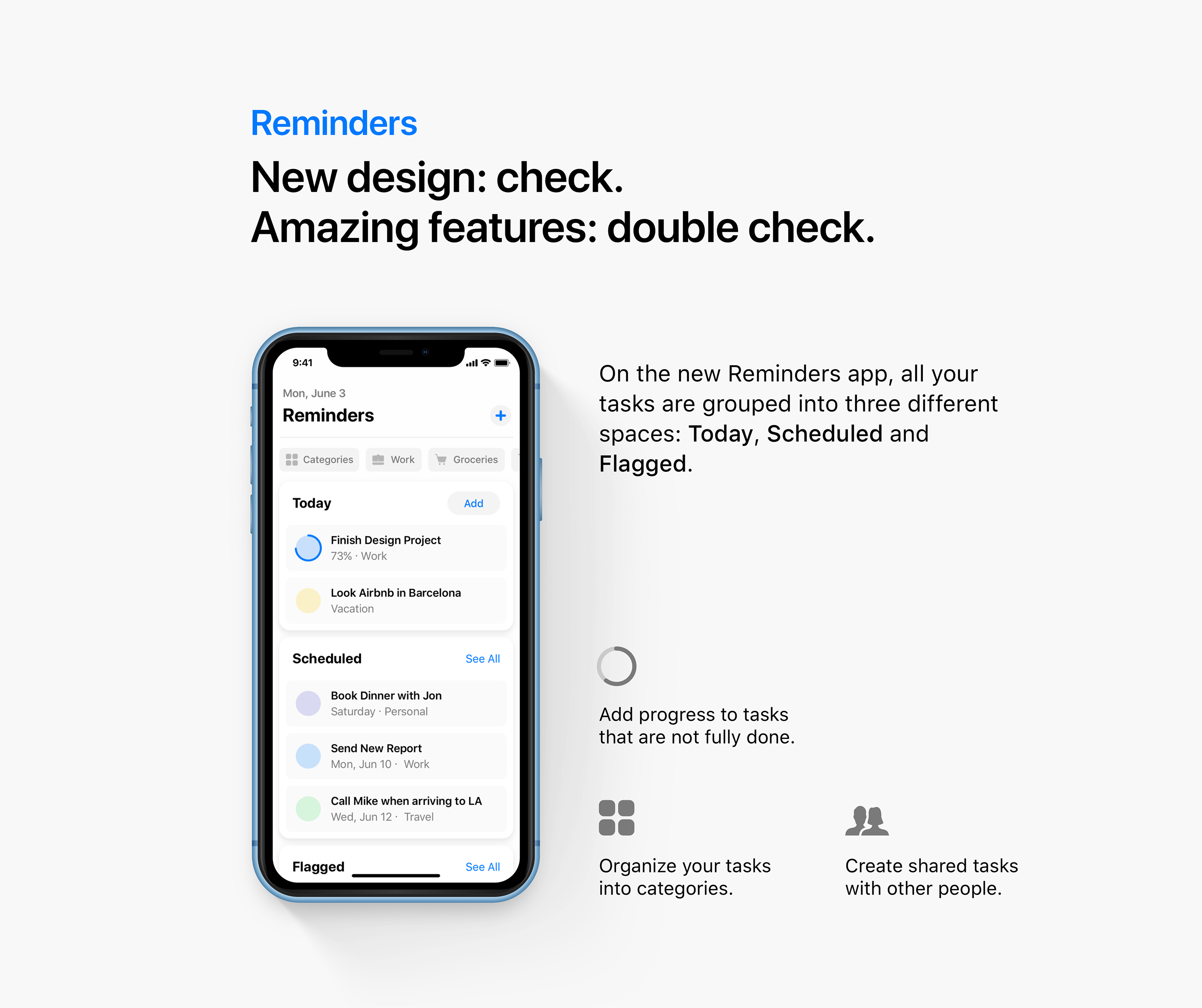 iOS 13 concept Reminders refresh
