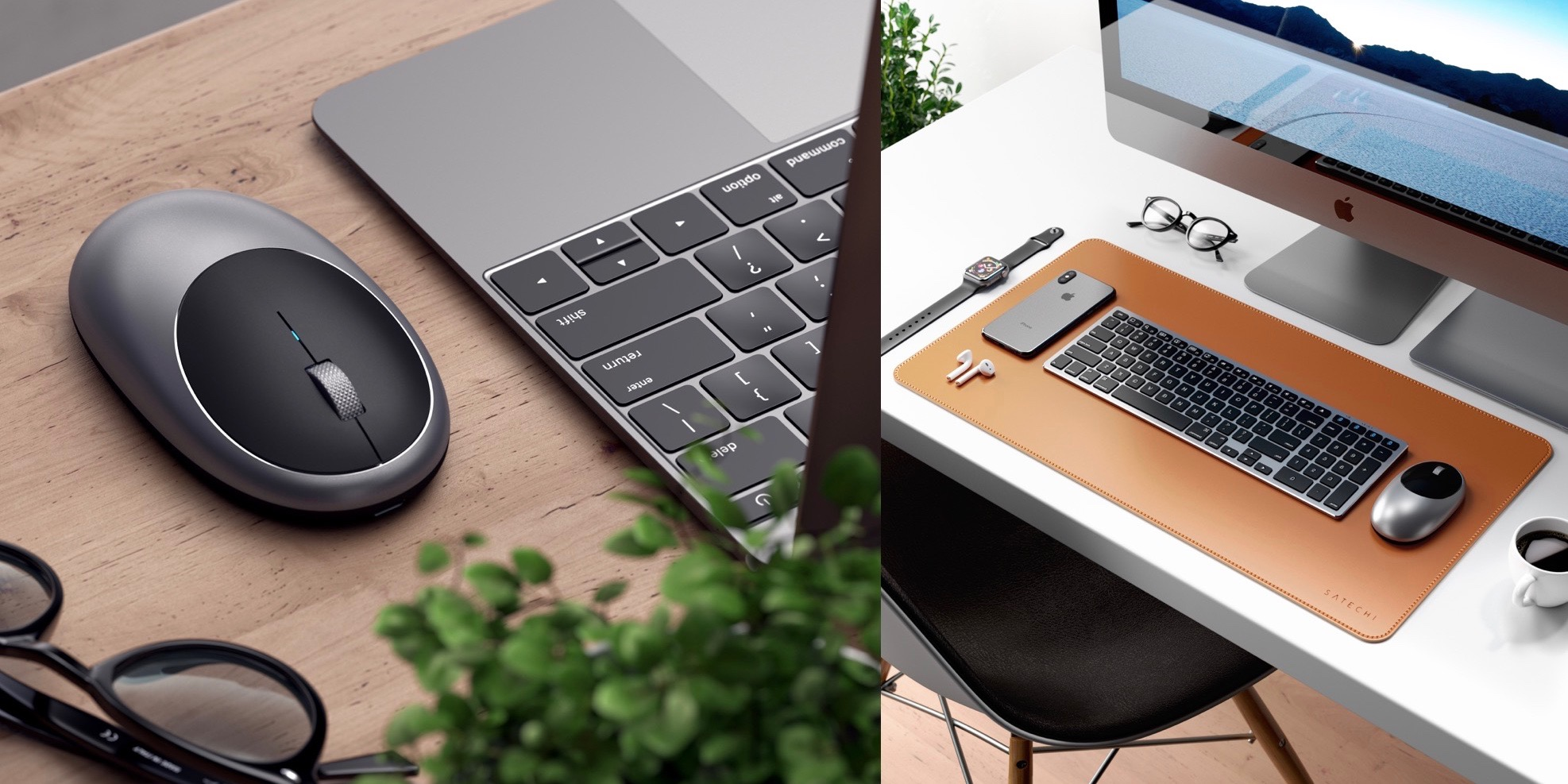 Satechi launches aluminum wireless mouse with USB-C, affordable faux-leather desk pad