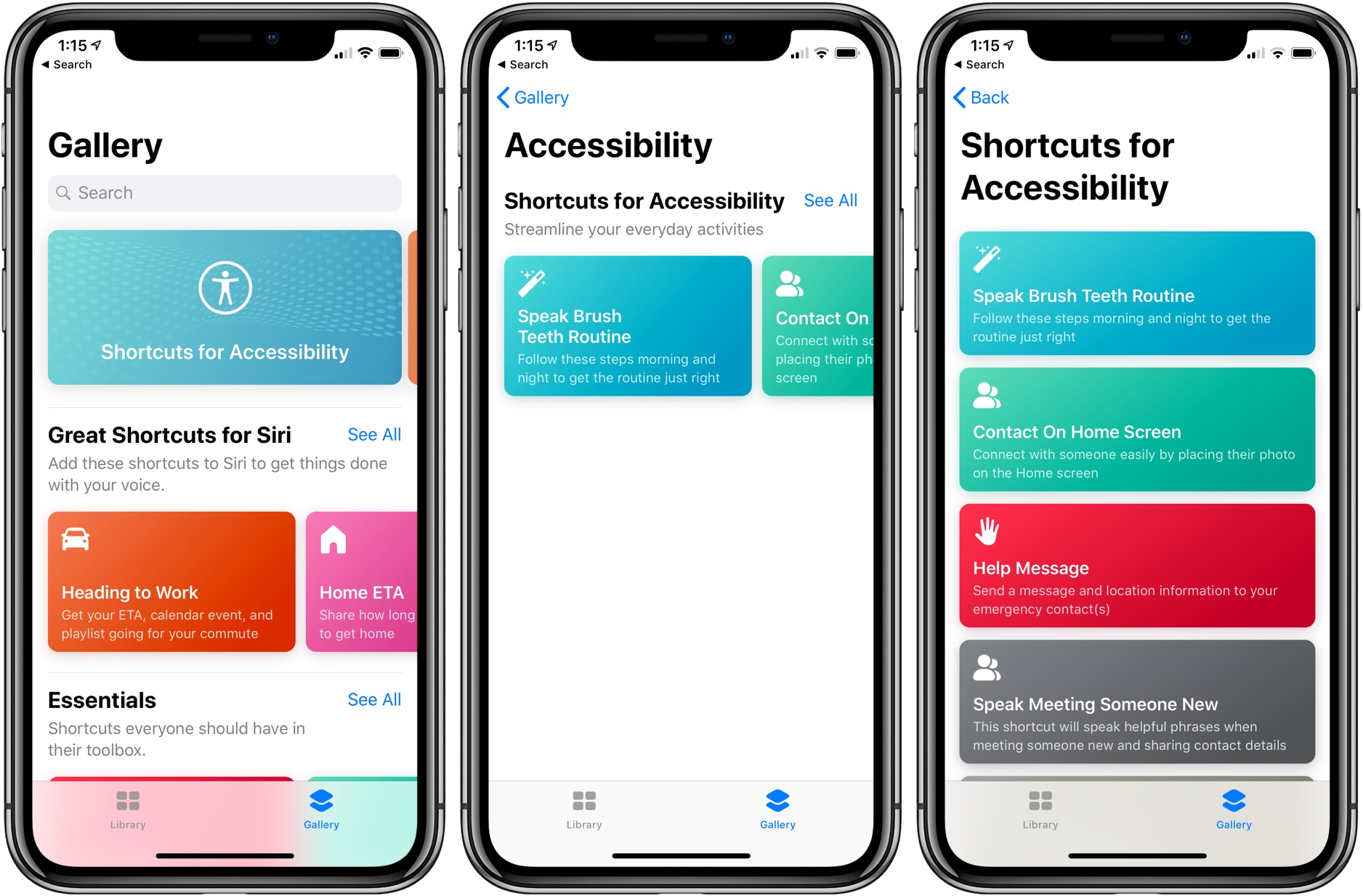 Siri Shortcuts accessibility