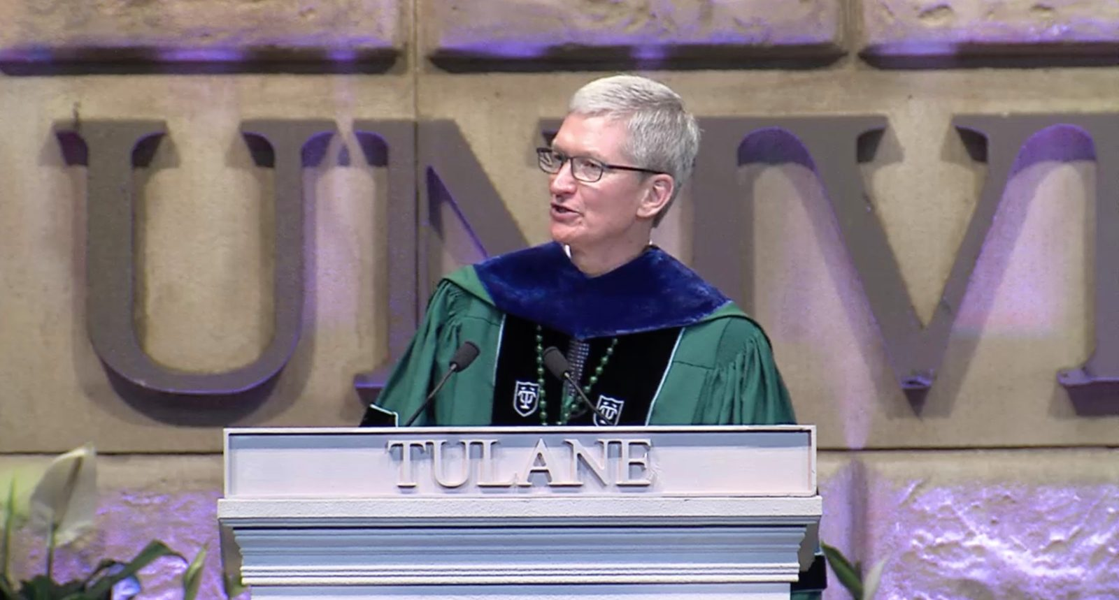 photo of Tim Cook delivers Tulane commencement address, talks climate change and his journey to Apple image