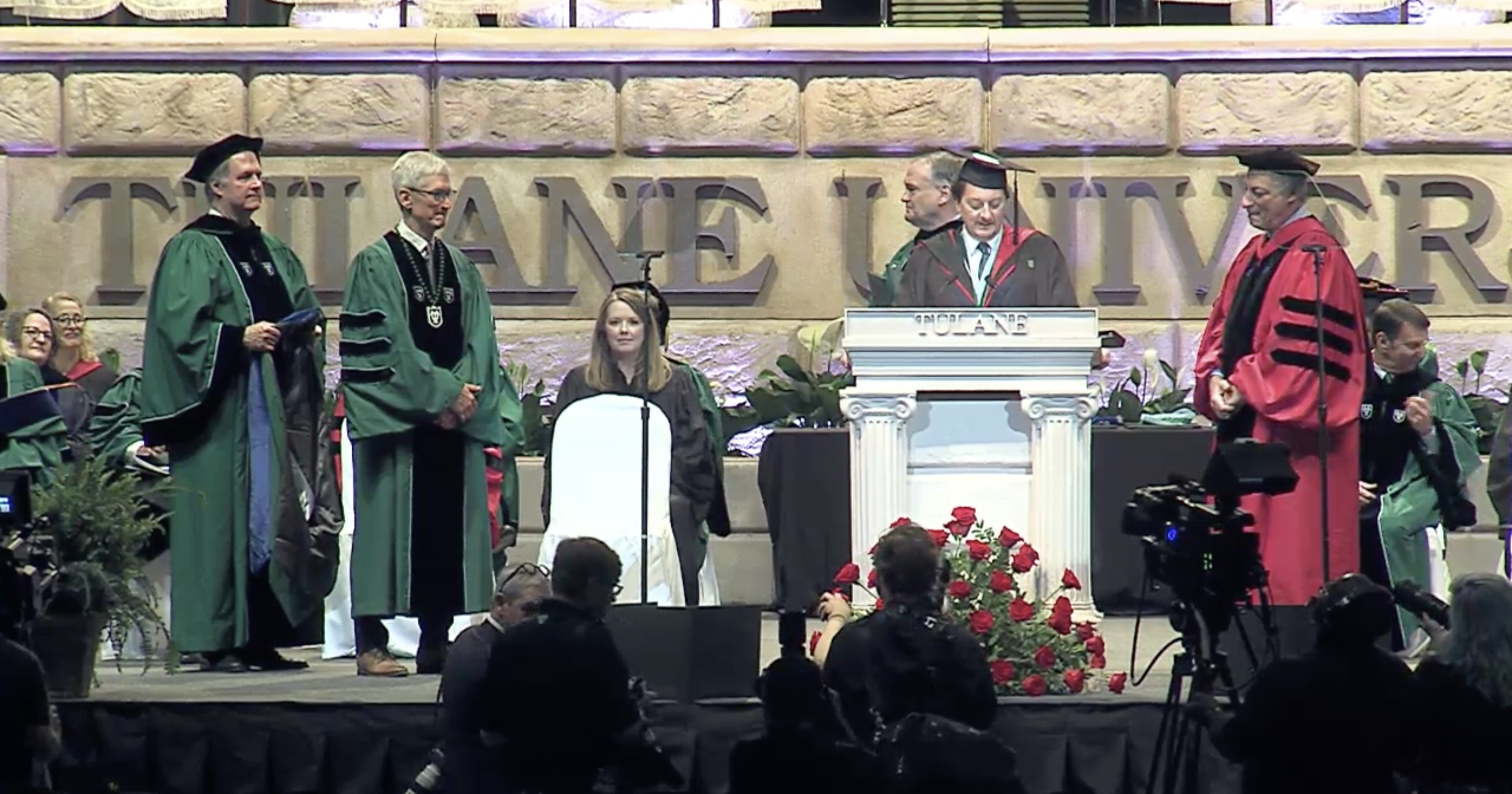 Tim Cook delivers Tulane commencement address, talks climate change and his journey to Apple