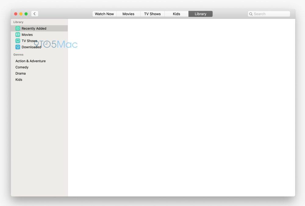 TV app macOS 10.15