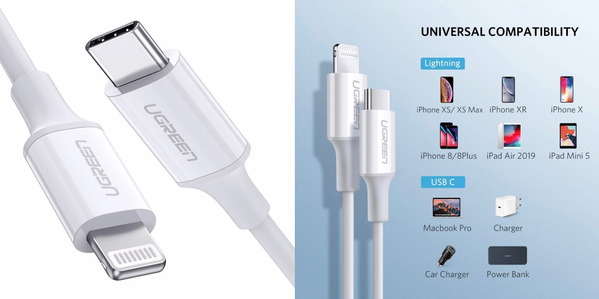 Ugreen's new MFi USB-C to Lightning cable undercuts Belkin and Anker at $13