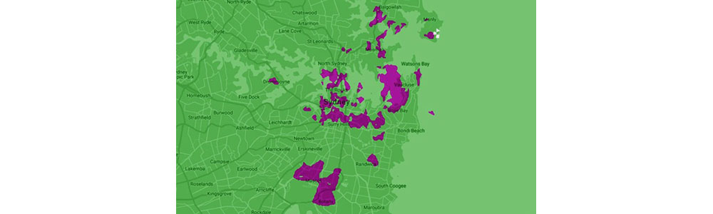 5G coverage area for Sydney