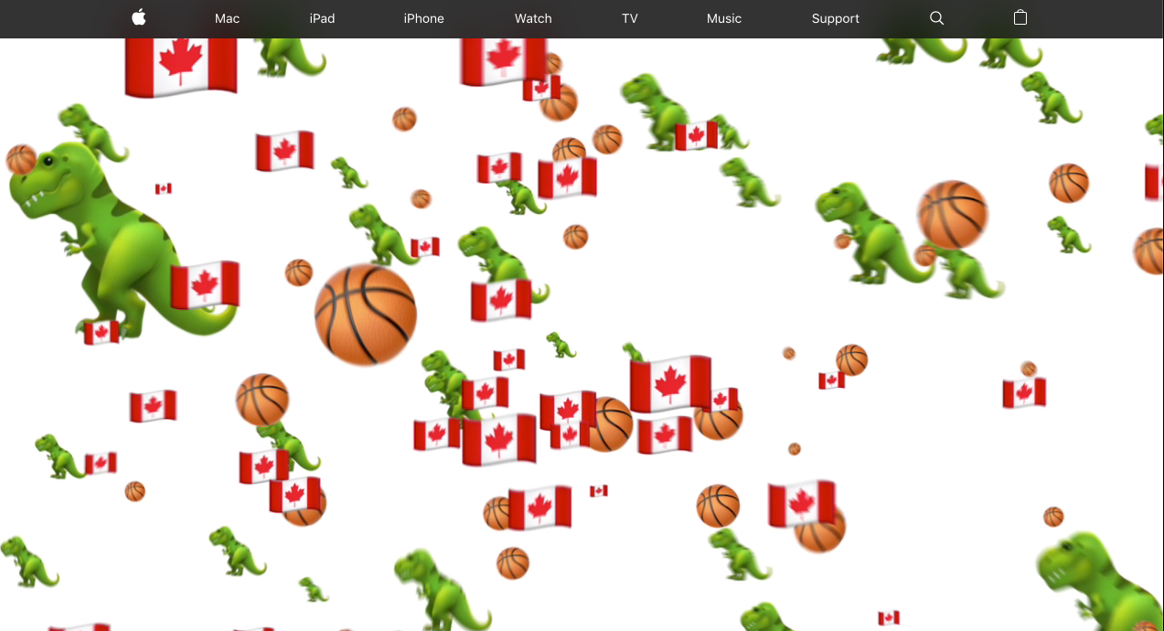 Apple celebrates Toronto Raptors NBA Championship win with emoji homepage takeover