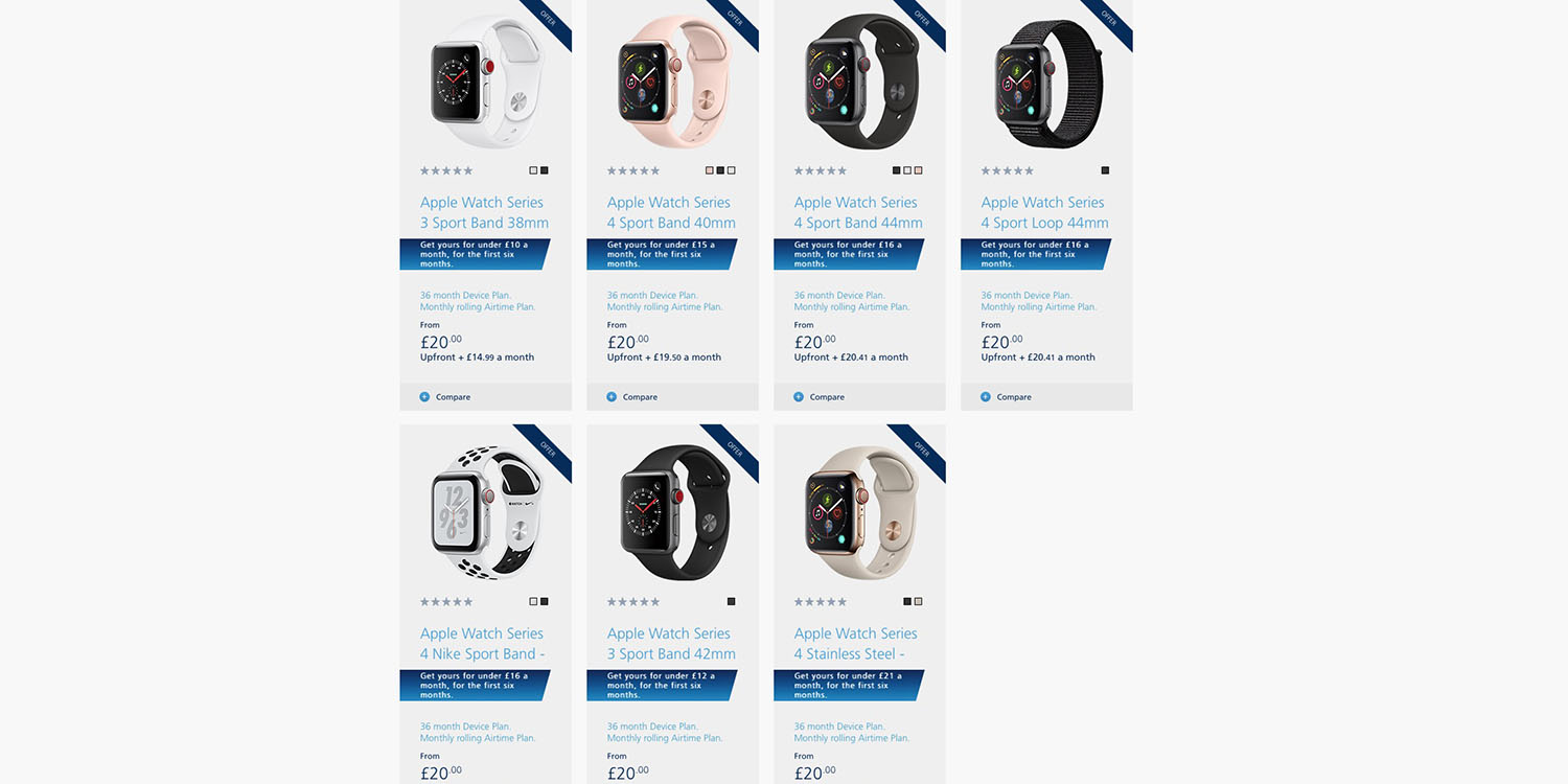 Apple Watch now available from UK carrier O2, upfront cost from £20 ($25)