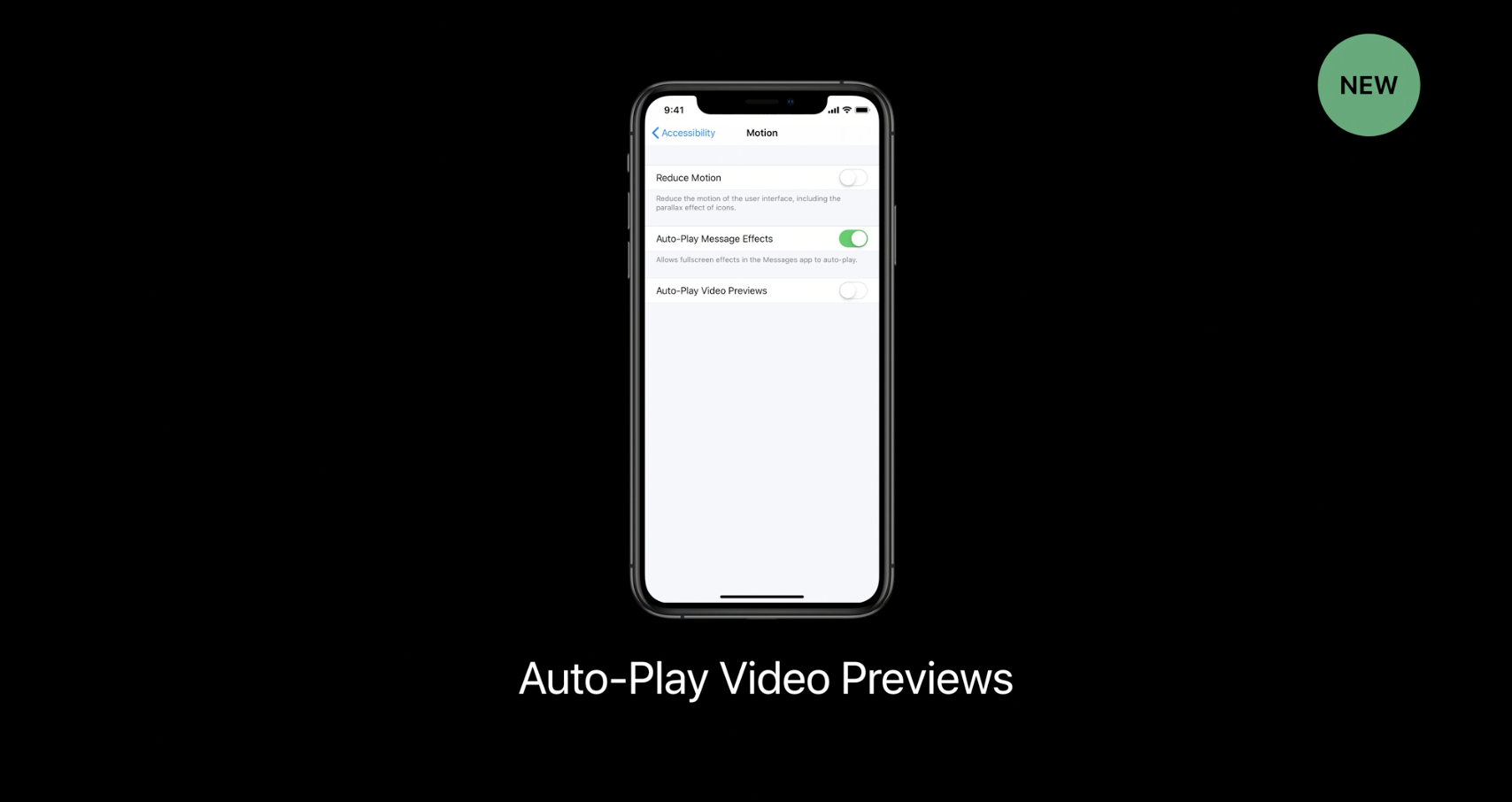 iOS 13 includes new Accessibility features for motion