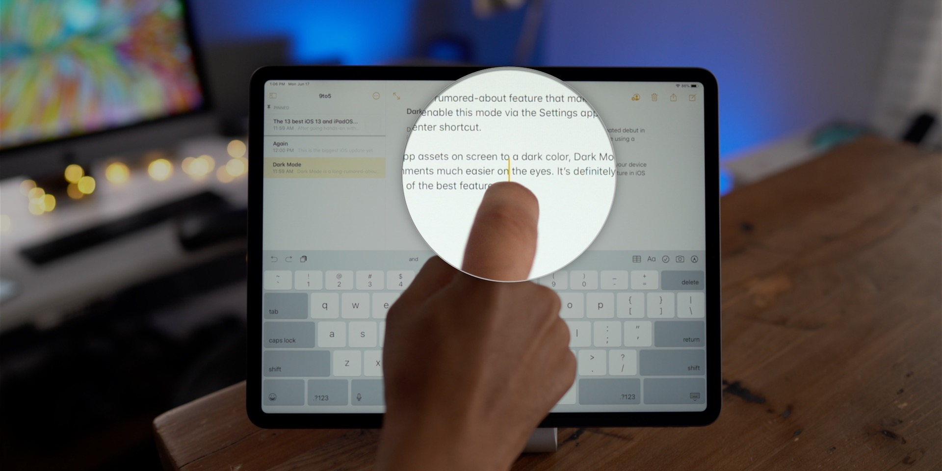 iOS 13 Direct Cursor Control