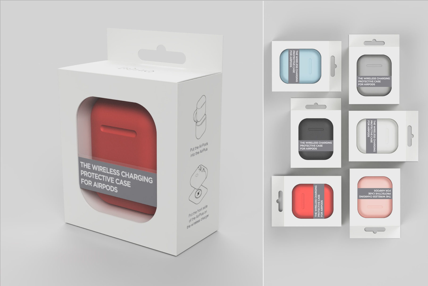 8122744fad9 ... to your AirPods case. It's available in six color options to match  available iPhone models including white, black, red, grey, rose gold, and  sky blue.