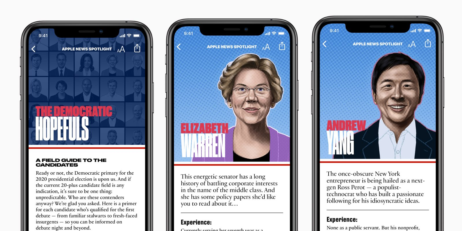 Apple News launches Democratic candidate guide for the 2020 presidential campaign