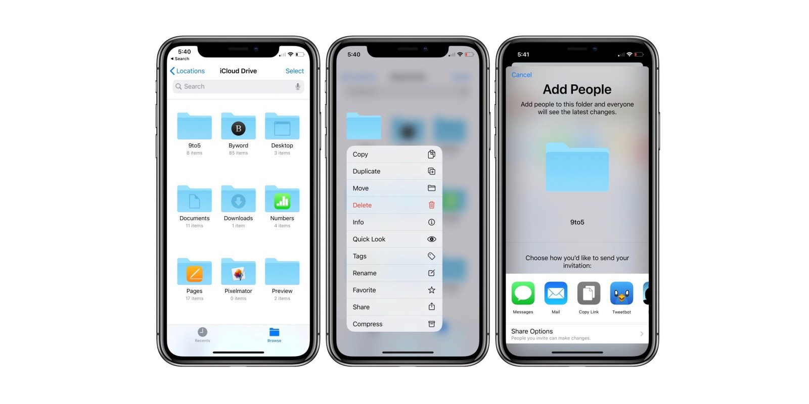 iOS 13: How to share iCloud Drive folders from iPhone and iPad