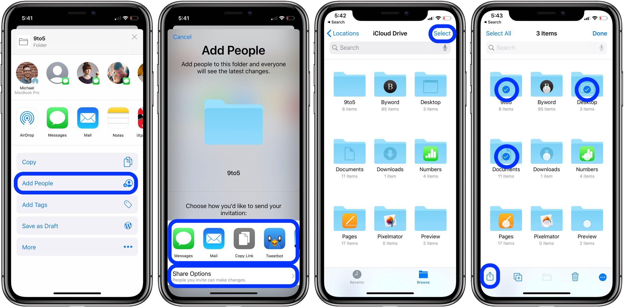 iOS 13 教程:如何从 iPhone 和 iPad 共享 iCloud Drive 文件夹?