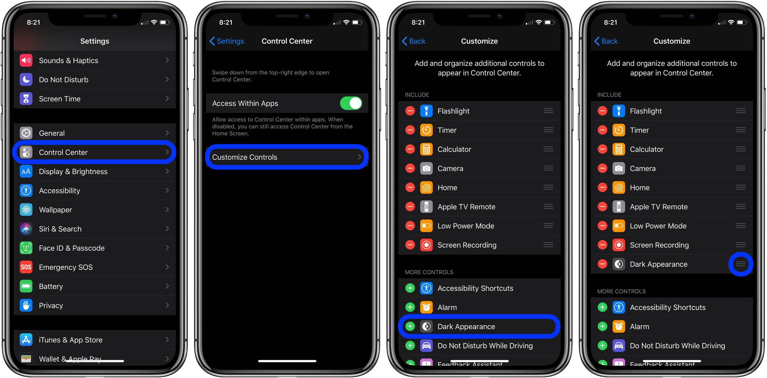 Dark Mode iPhone iOS 13