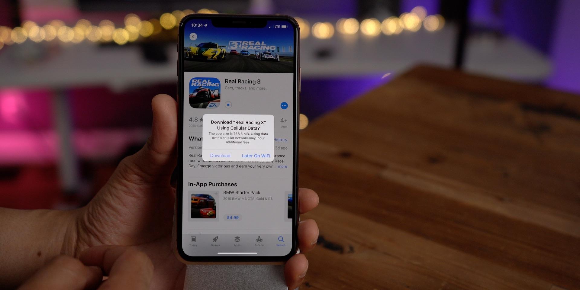 iOS 13 changes cellular download limit