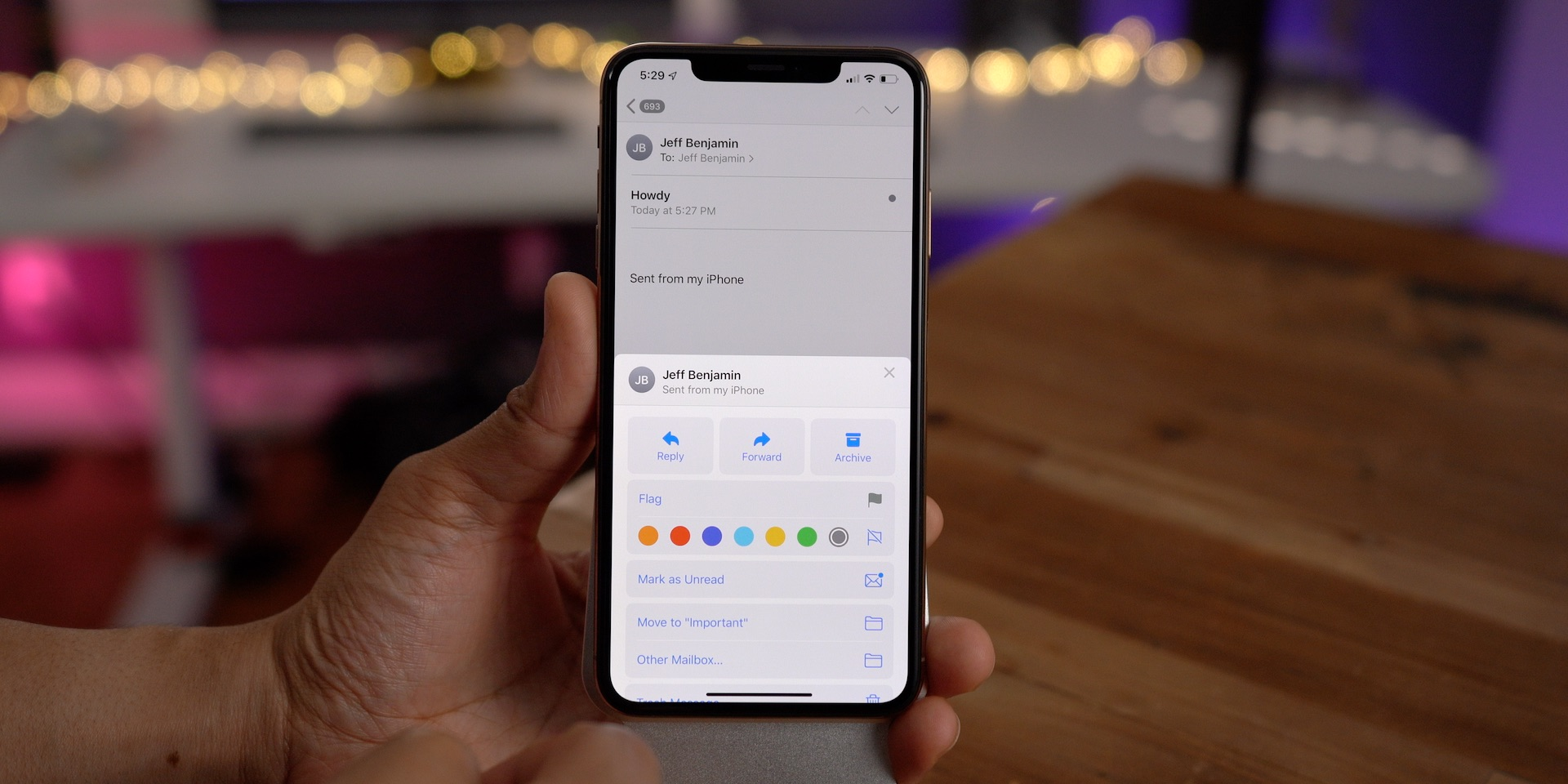 iOS 13 changes Mail app