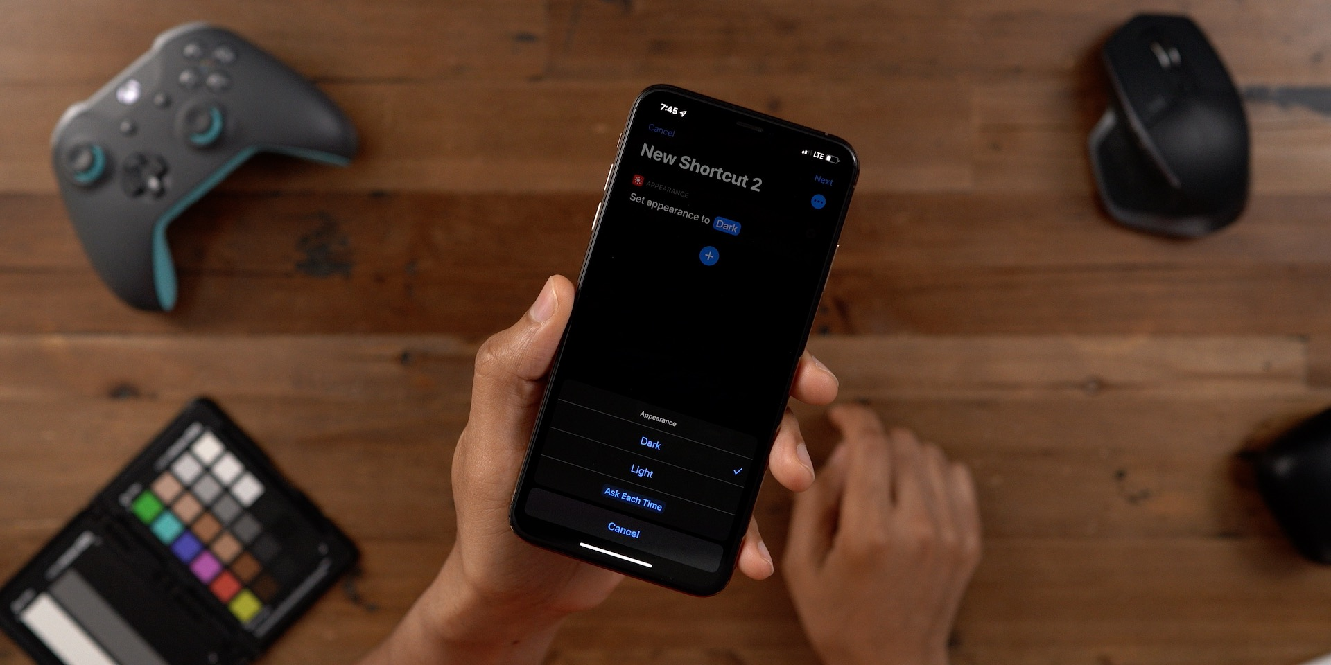 Dark Mode Shortcut Siri iOS 13 beta 2