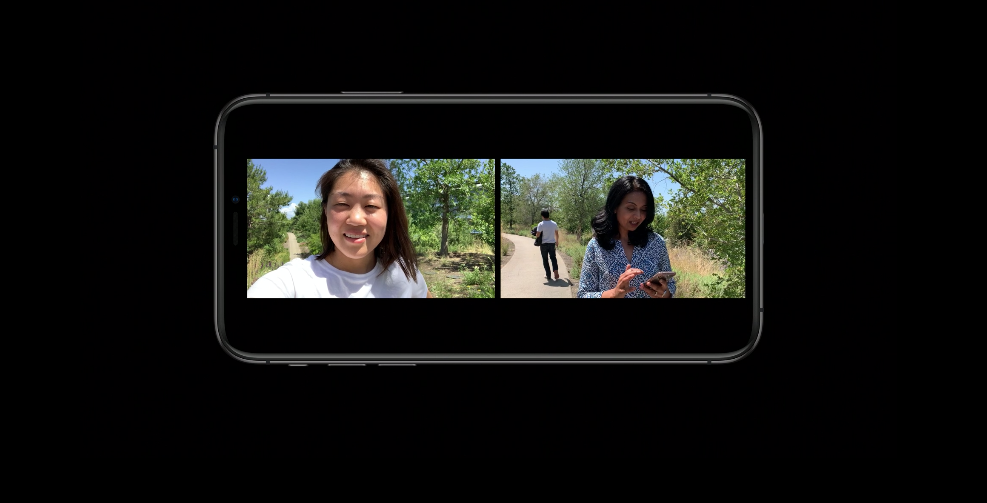 Multi-cam support in iOS 13 allows simultaneous capture