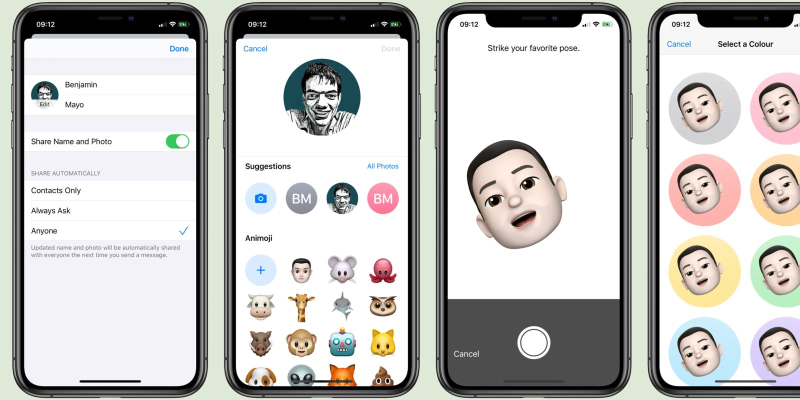 iOS 13 Messages: How to choose profile photo and display