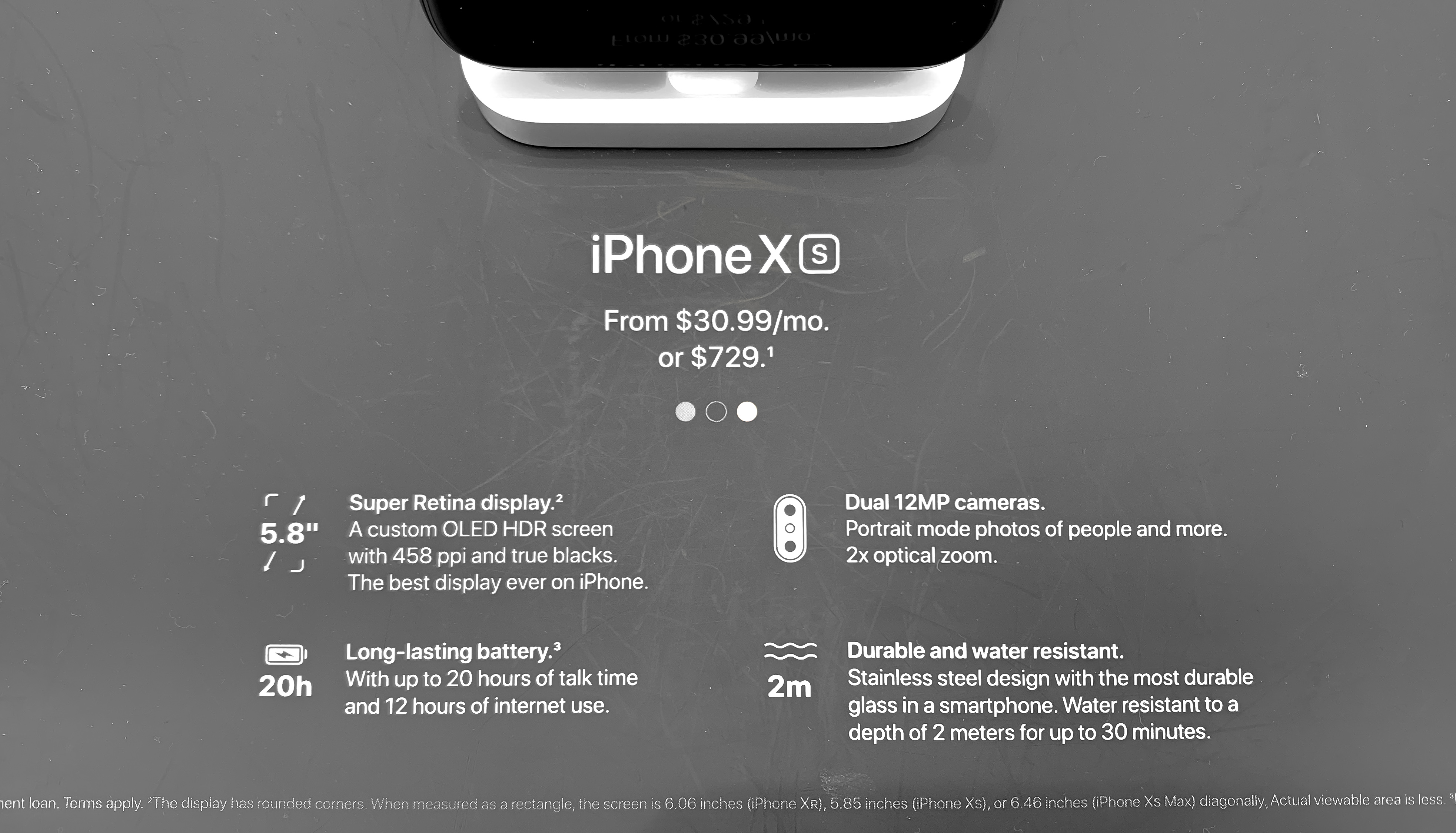 Apple Store iPhone XS Pricing Signs