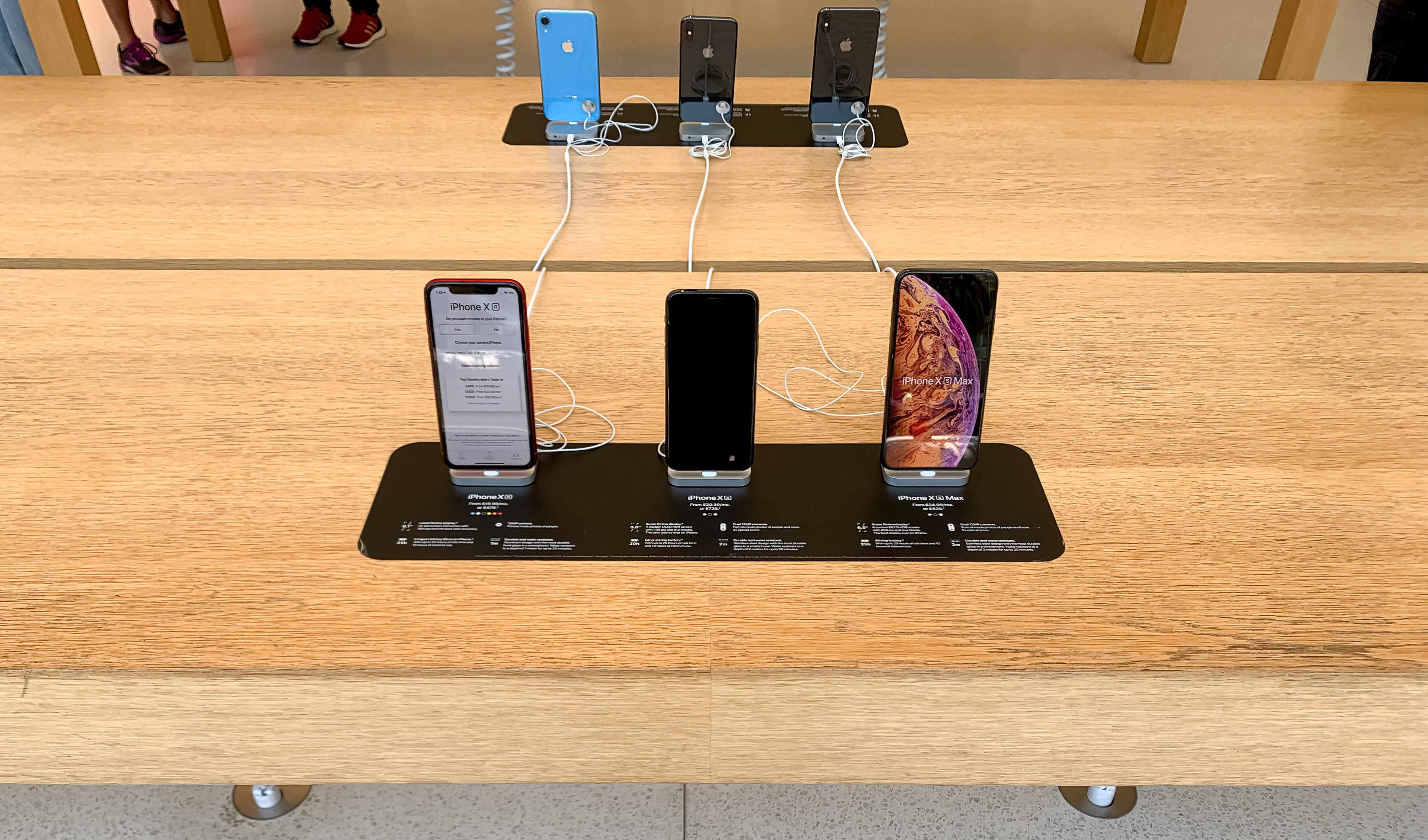 Apple Store iPhone Pricing Signs