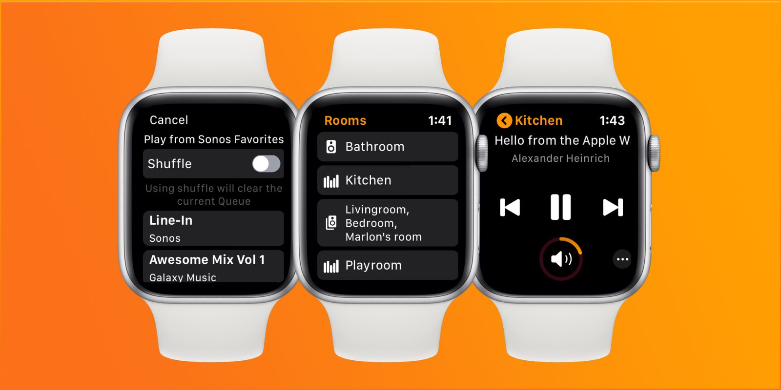 Use Sonos and Apple Watch? Lyd is your remote