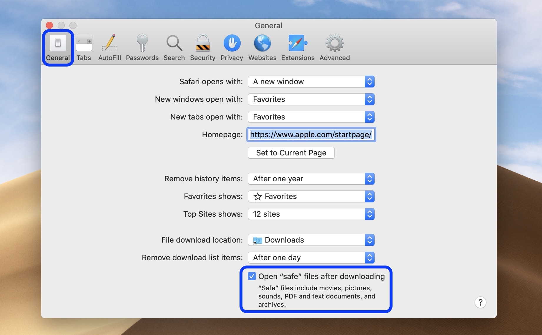 How to disable your Mac from auto opening web downloads