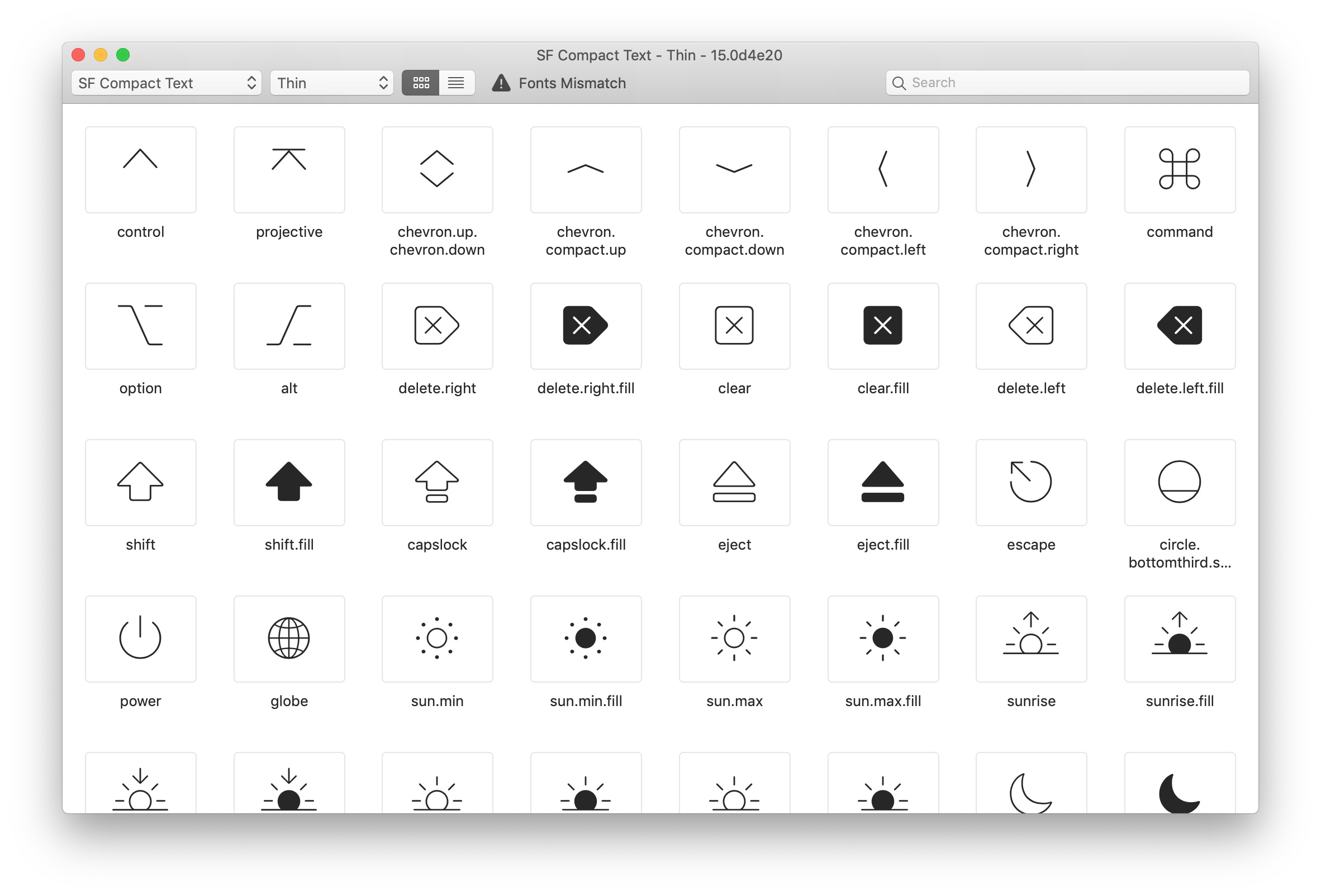 Apple introduces SF Symbols app with over 1,000