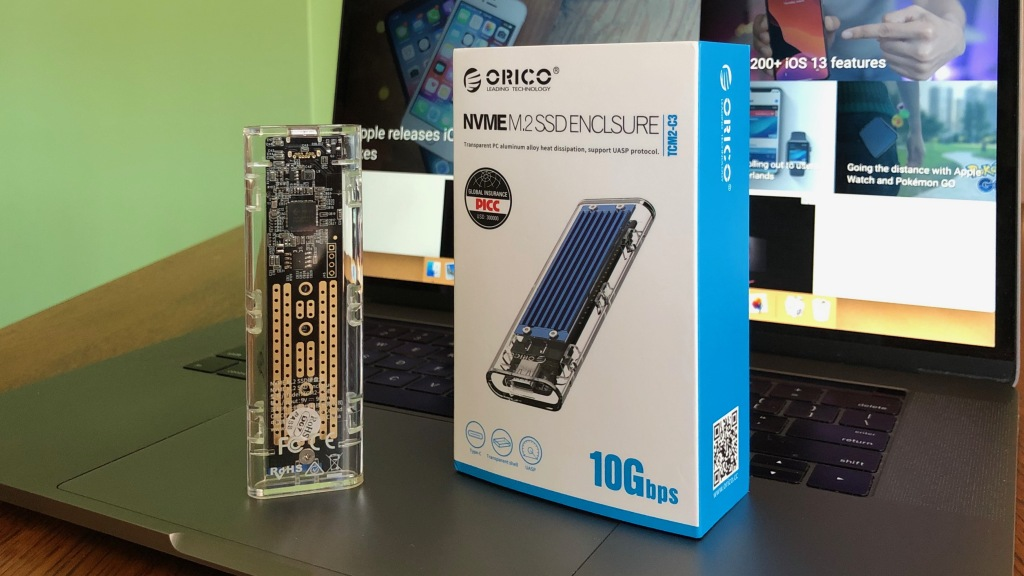 Hands-on with a fun, transparent USB-C NVMe SSD enclosure with 10