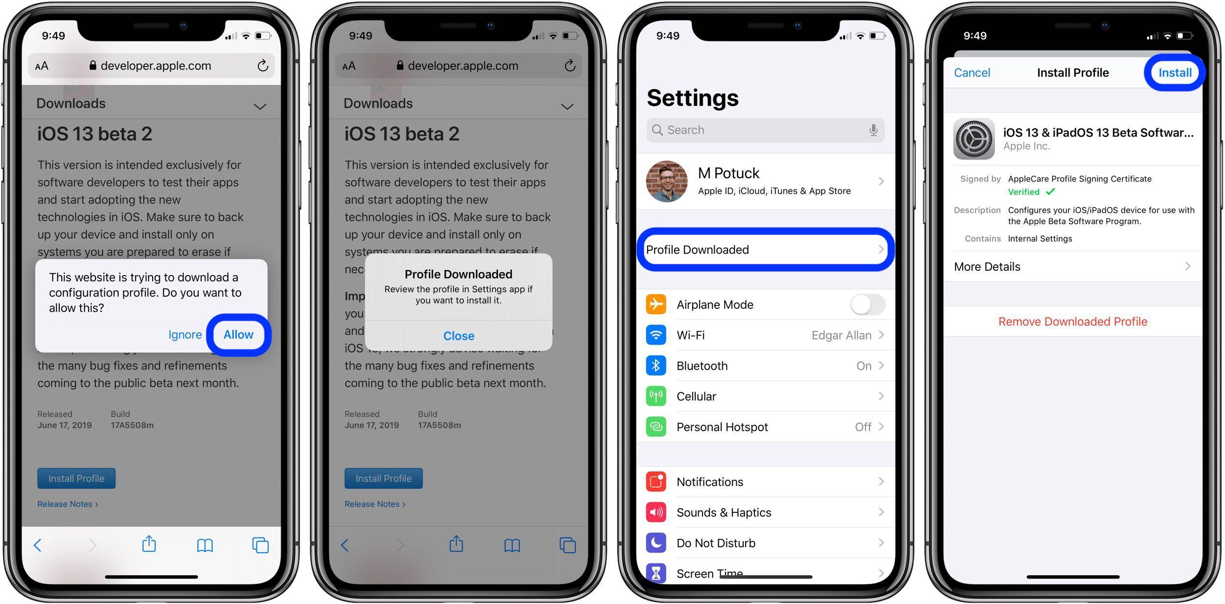 update iOS 13 beta 2 walkthrough 2