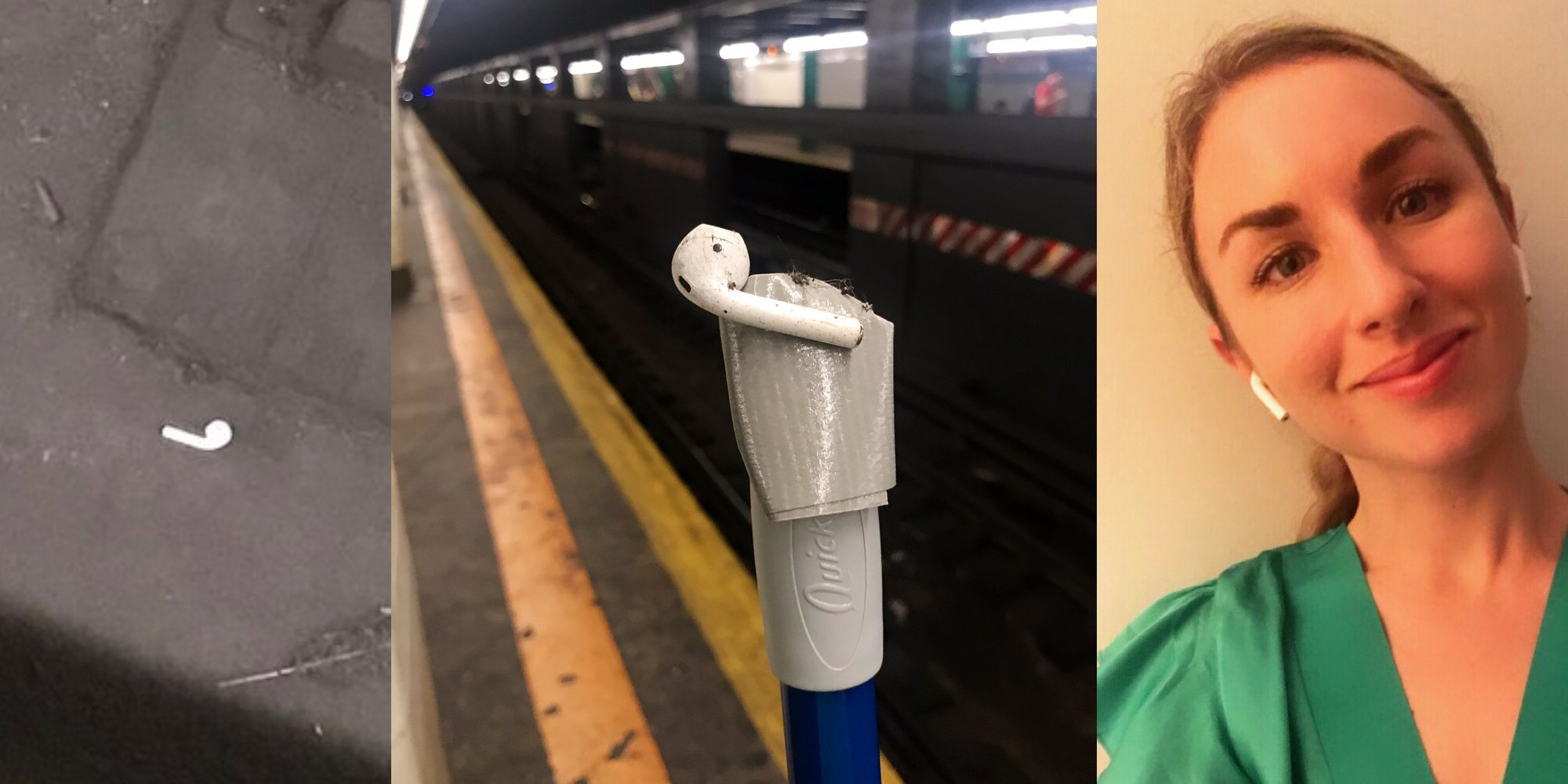 photo of What happens when an AirPod gets lost in a NYC subway station? [Video] image