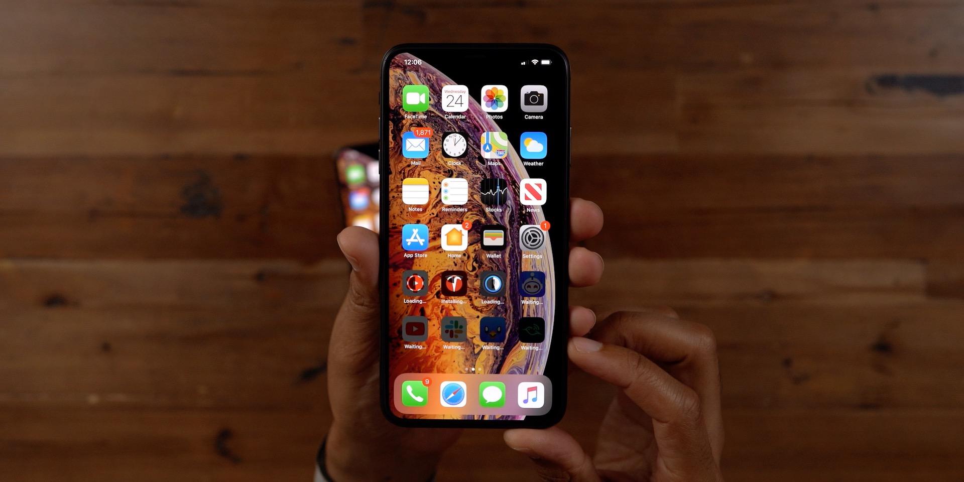 App Downloads iPhone Migration iOS 12.4