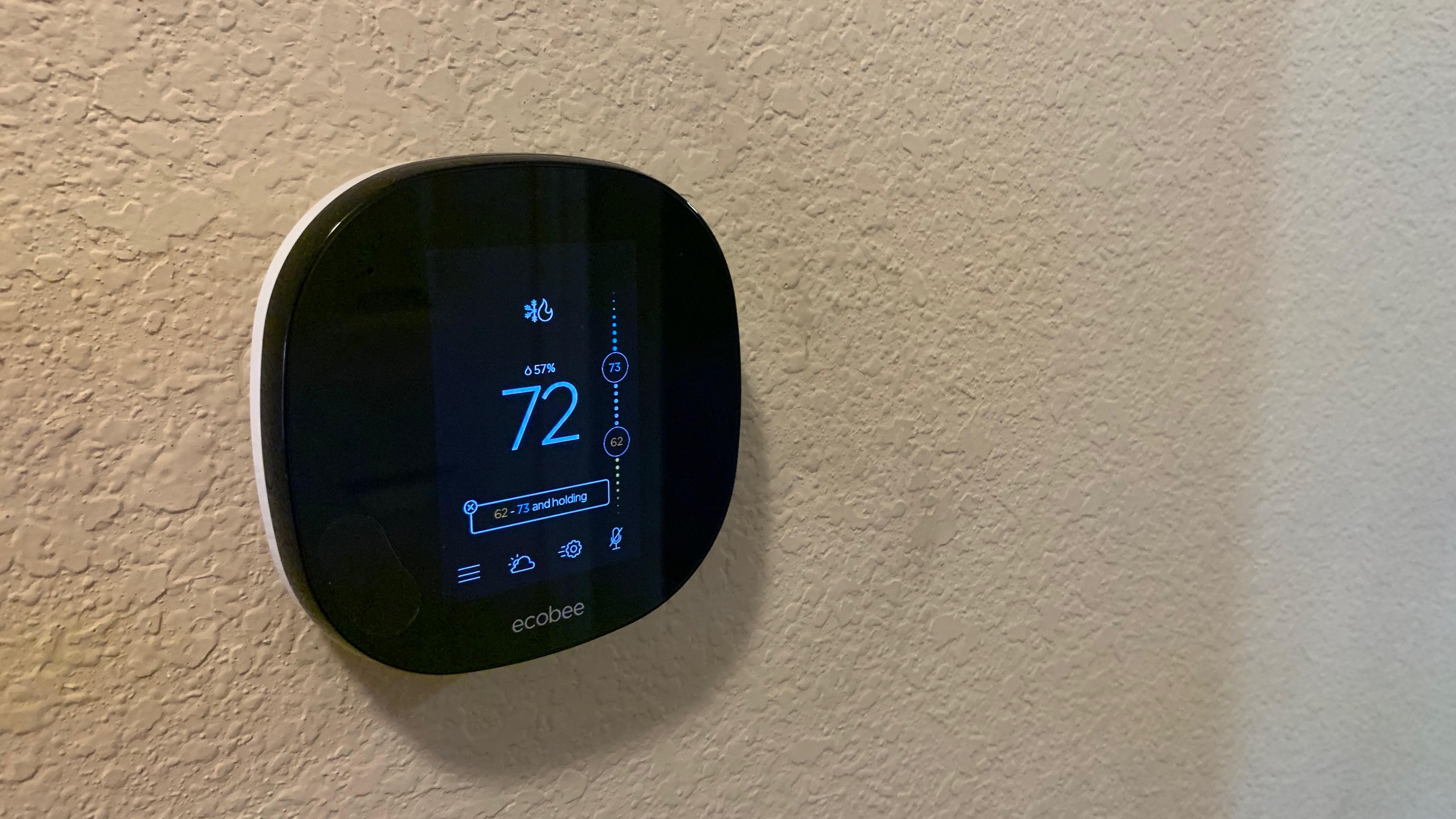 Ecobee screen black zigbee doorbell