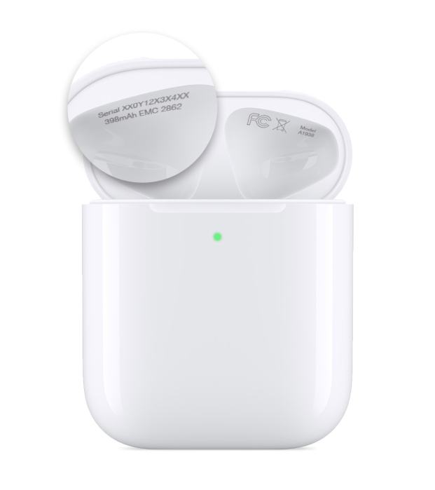 Sforum - Latest technology information page airpods-2nd-gen-case-serial-number Tell you how to check serial number on the most accurate AirPods