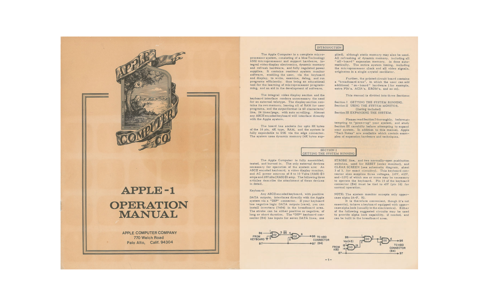 40-year-old Apple-1 original manual could fetch over $10,000 at auction