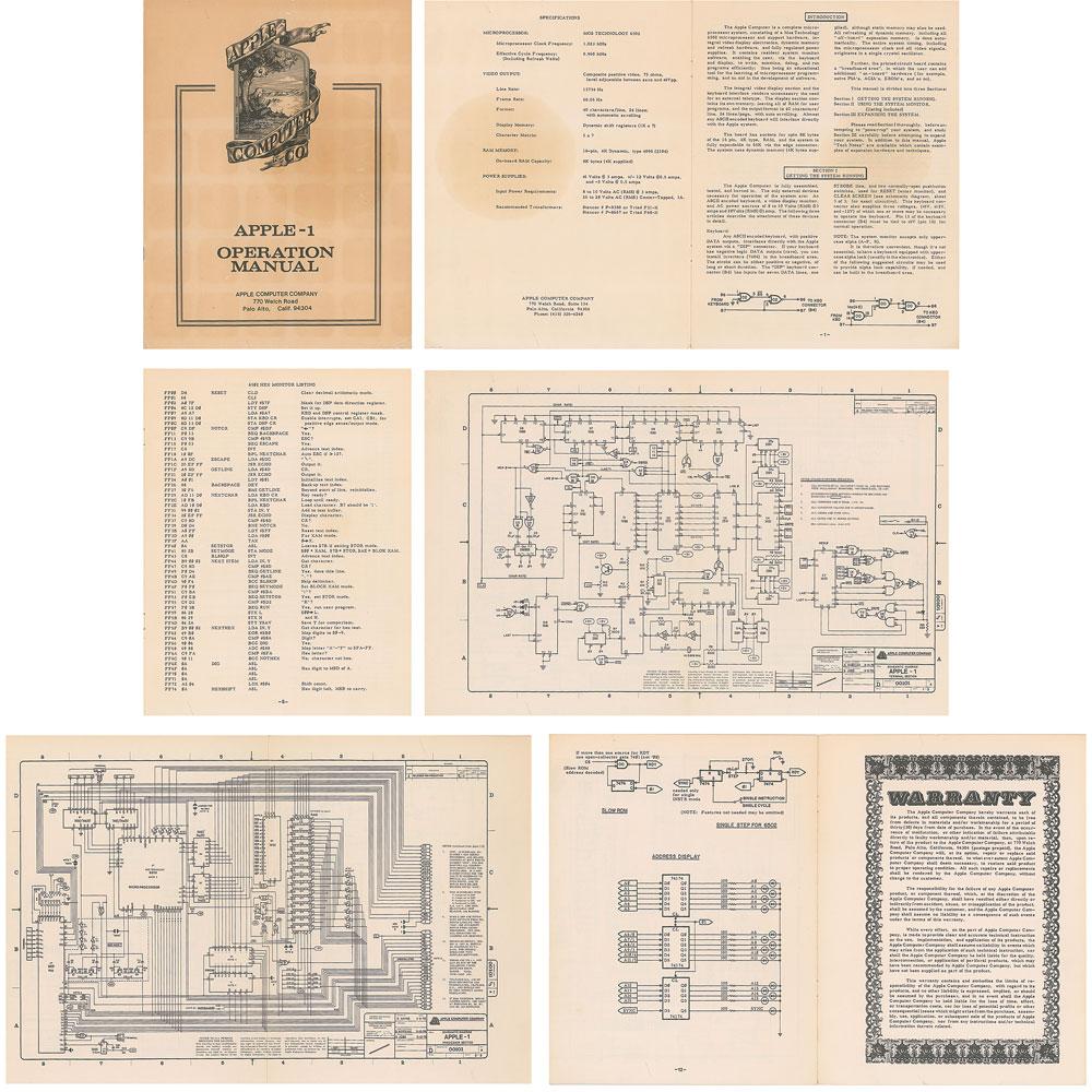 Apple-1 original manual