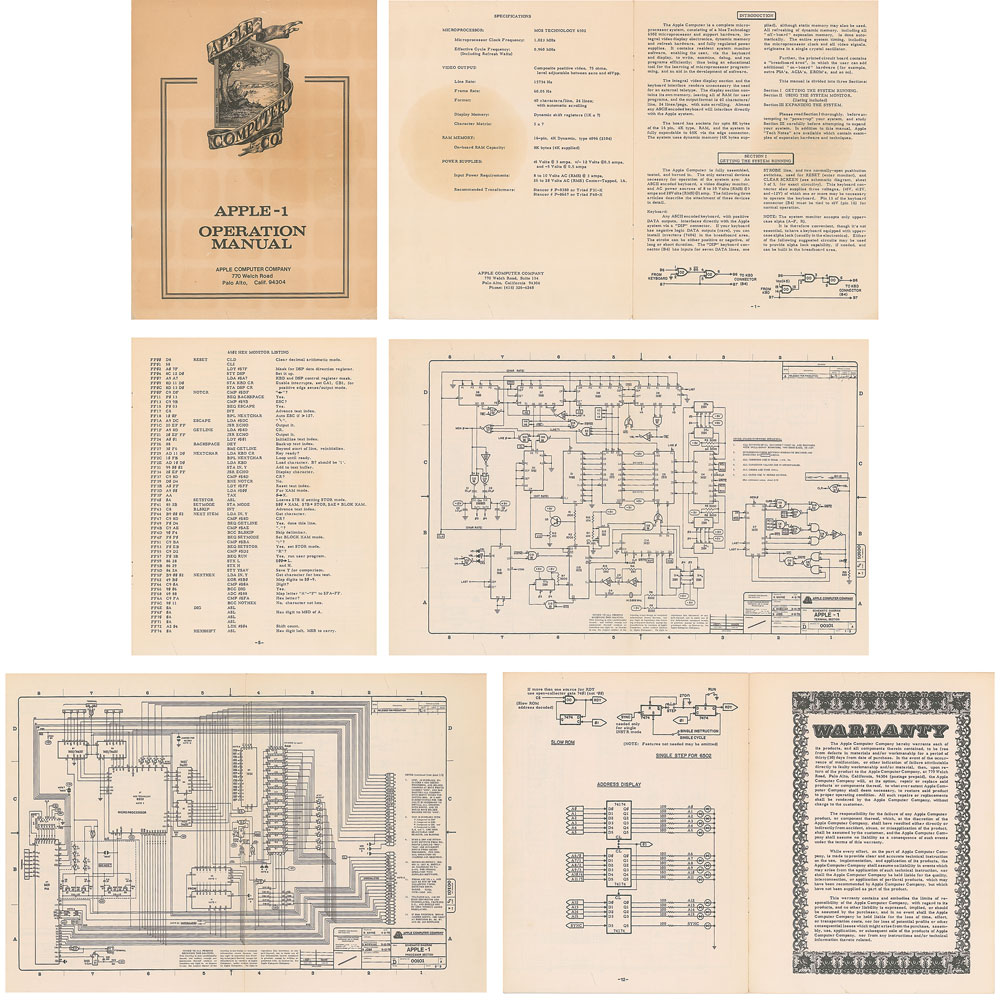 Apple-1 original manual