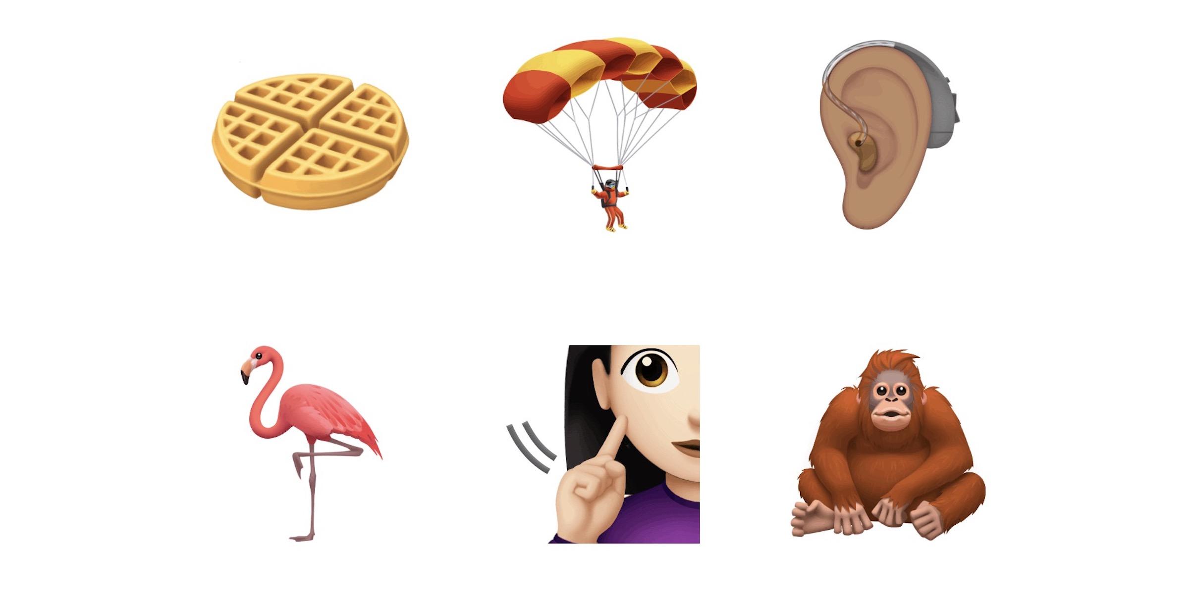 new iOS emoji