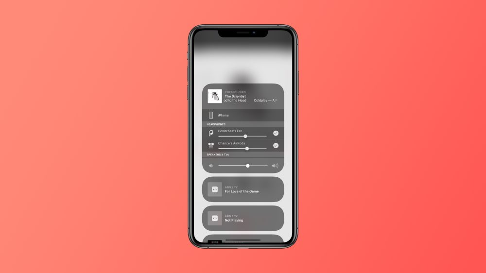 audio sharing ios 13