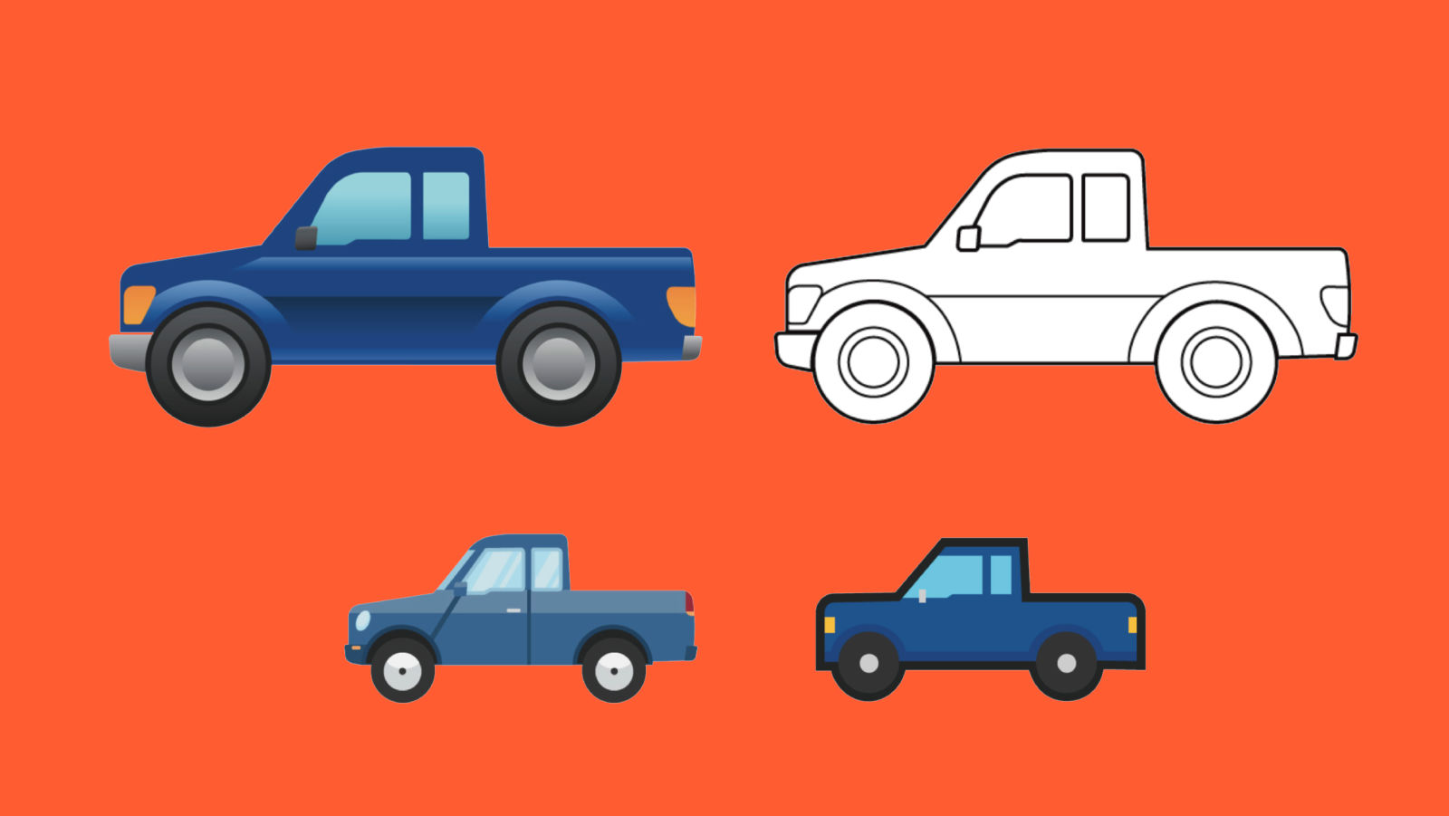 World Emoji Day Ford pickup truck emoji