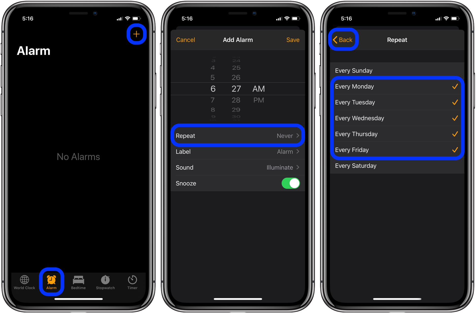 Repeating Scheduled Alarms On Iphone