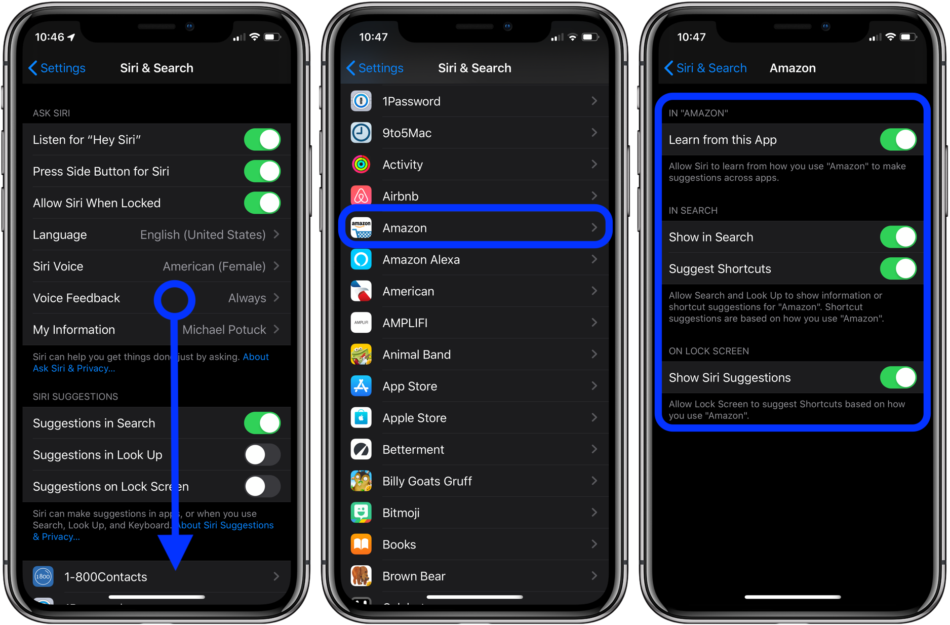 disable Siri Suggestions iPhone