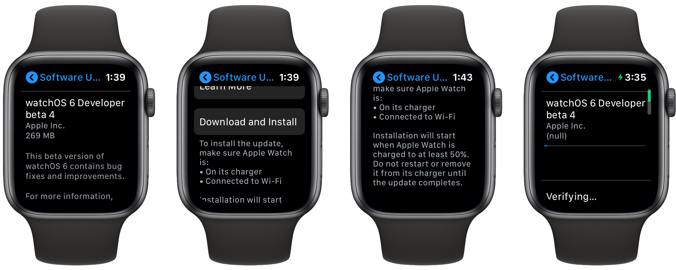 How to update software directly on Apple Watch walkthrough