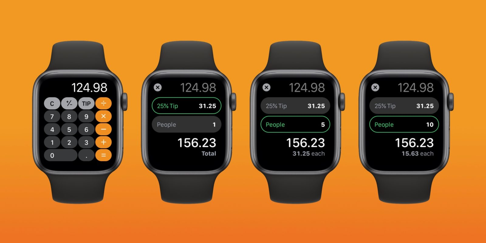 watchOS 6: How to use the split bill and tip calculator features on Apple Watch