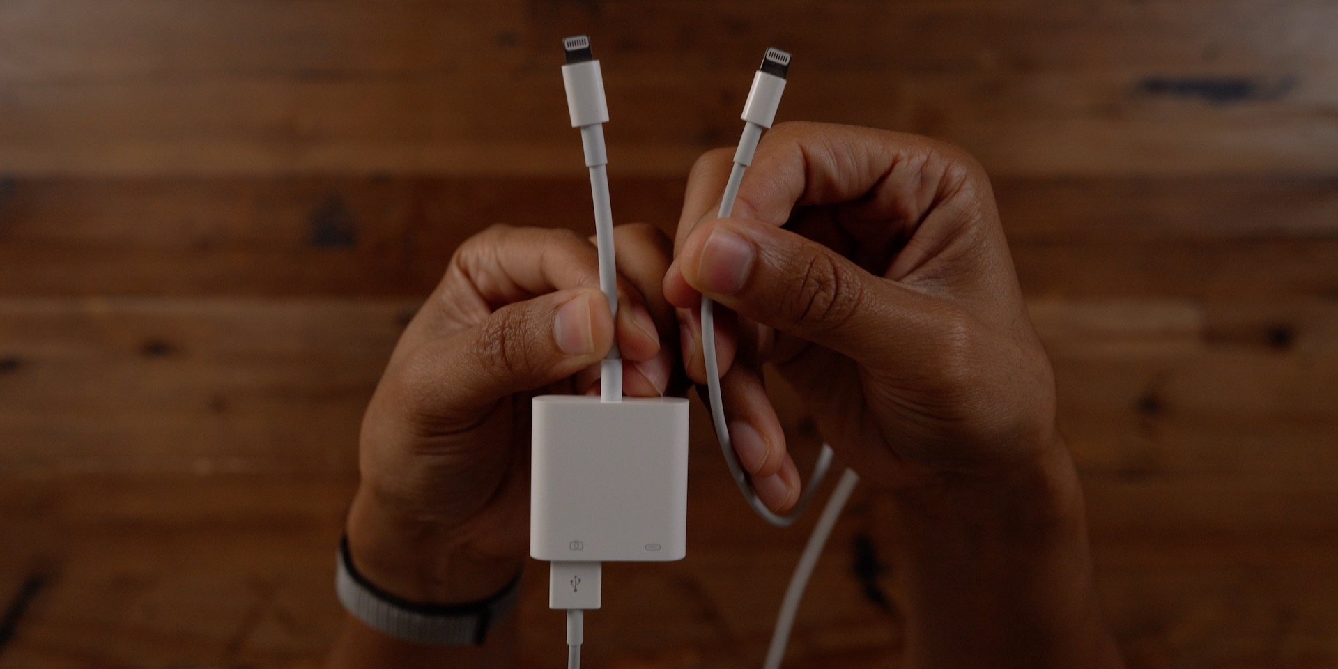 Double-sided lightning cable