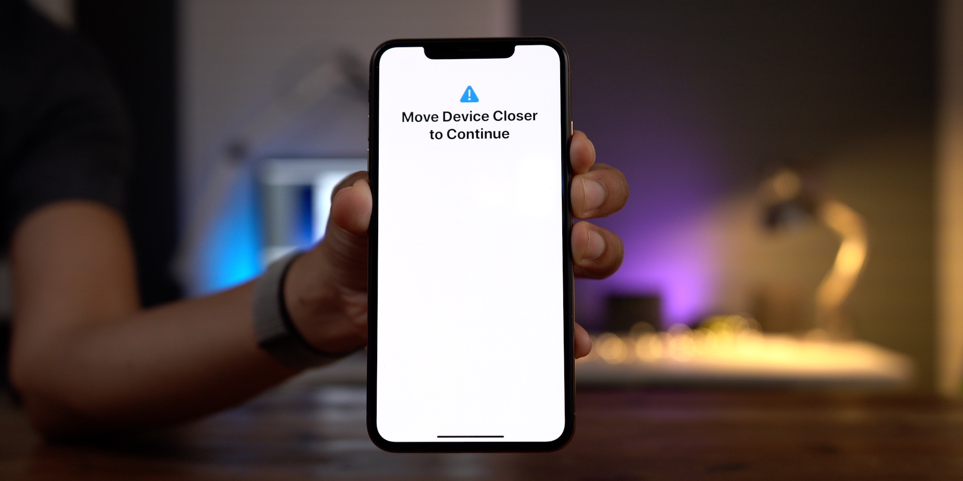 Move Device Closer to Continue iPhone Migration