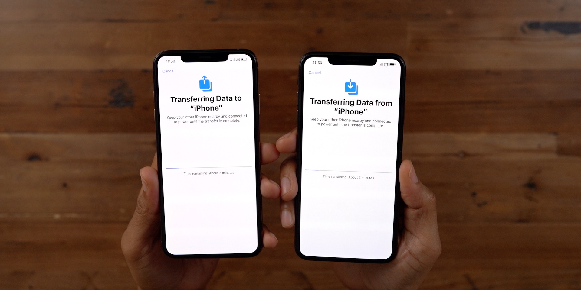 Transferring Data To From iPhone