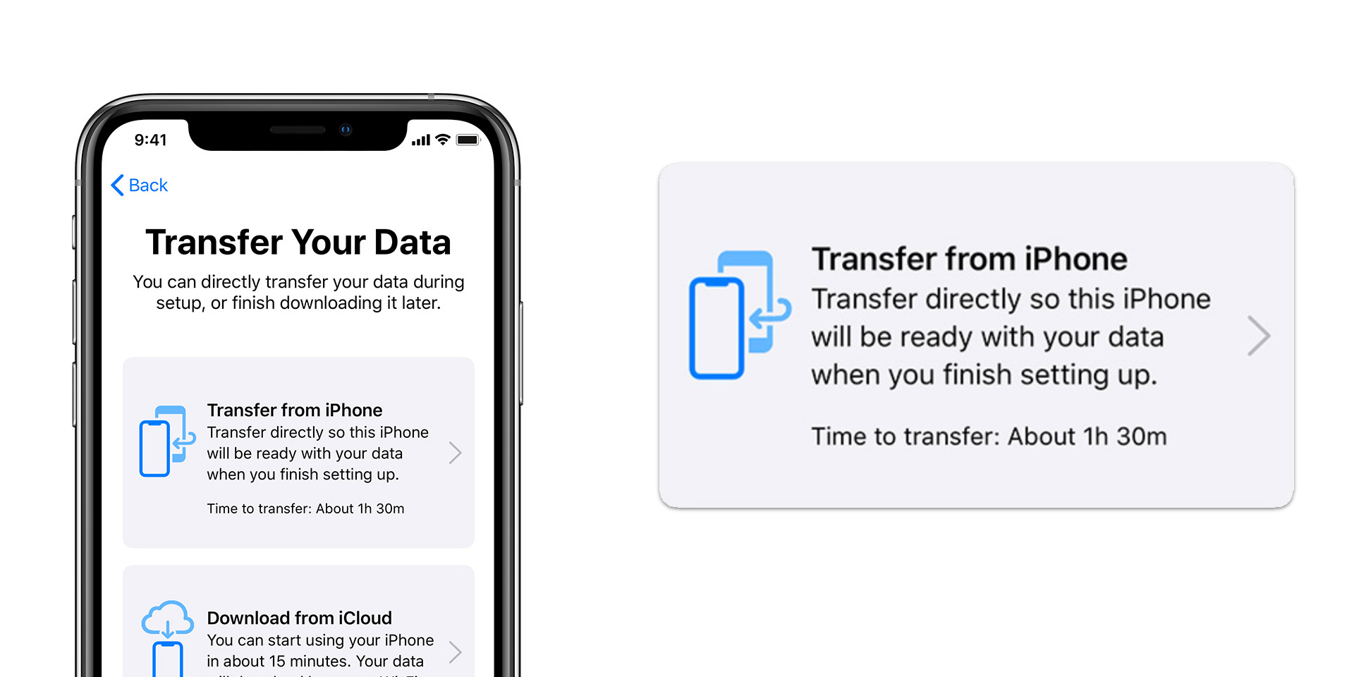 iOS 12.4: Transfer data directly to a new iPhone wirelessly, or using a cable