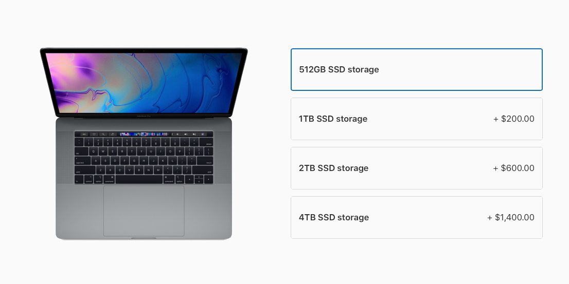 Apple significantly lowers Mac SSD upgrade pricing, 1 TB