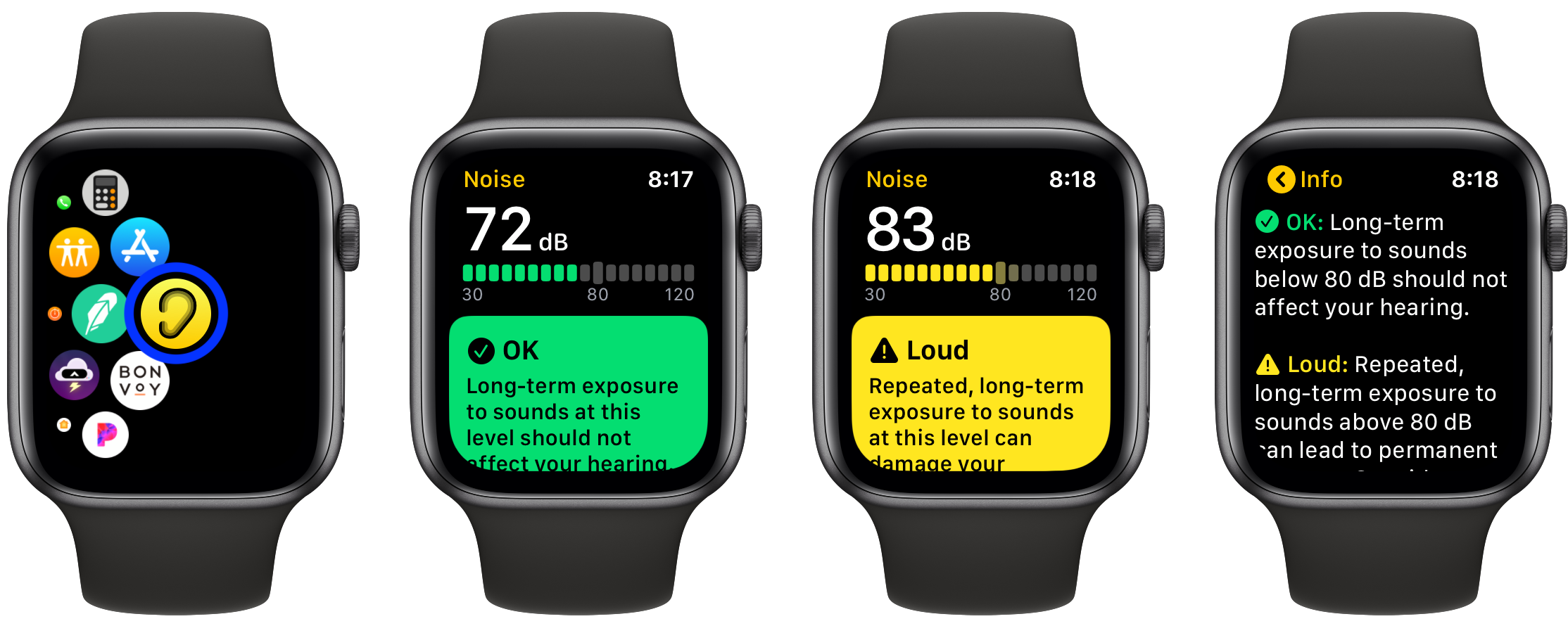 How to use noise app Apple Watch watchOS 6