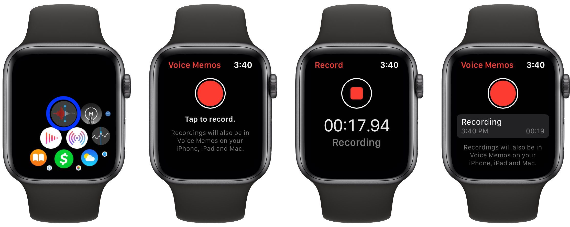 how to record Voice Memos Apple Watch walkthrough 1